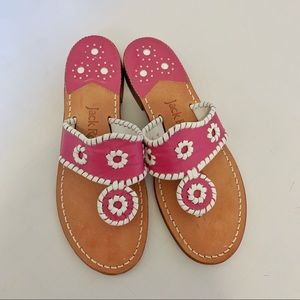 Jack Rogers Navajo thong leather Sandals size 6